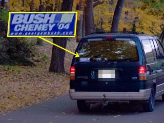 Bush/Cheney 04 on Ford Aerostar Minivan